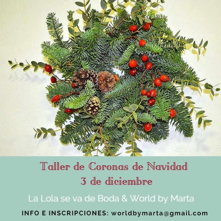 Taller de coronas de Navidad en Madrid