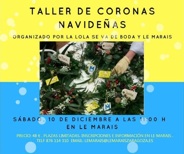 Taller de Coronas navideñas en Zaragoza