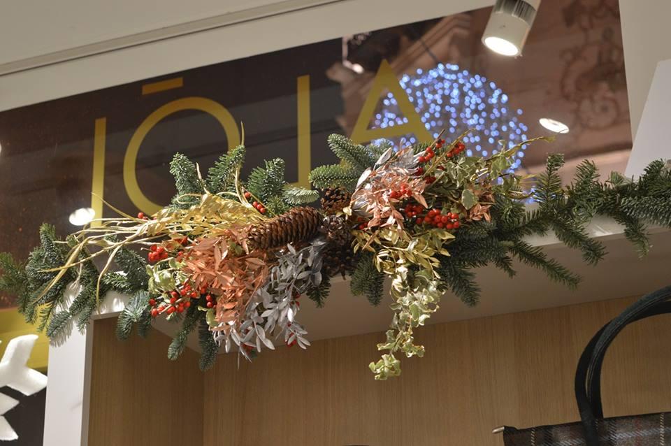 Decoración de Navidad en tiendas