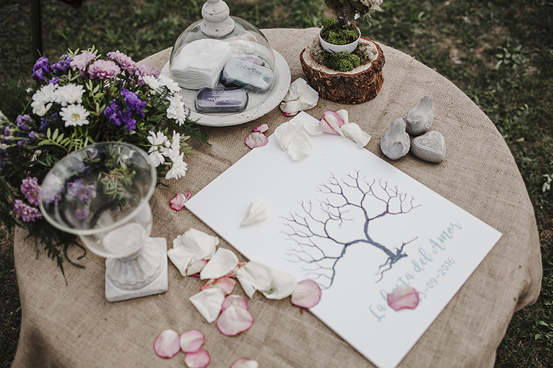 Árbol de huellas boda