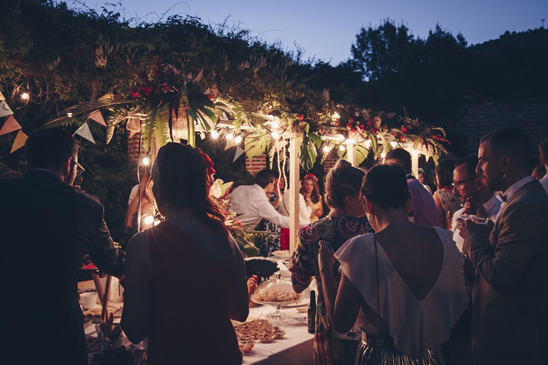 Flores colgantes boda