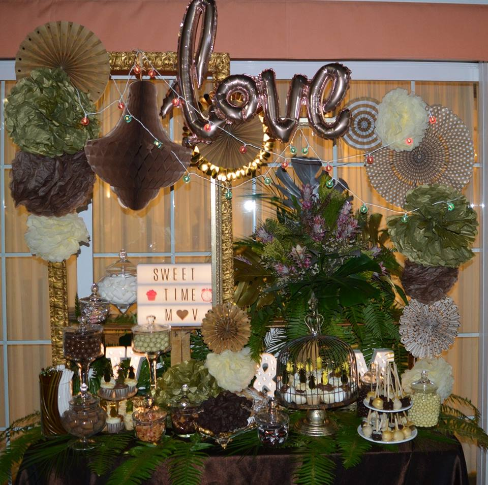 Candy bar tropical elegante