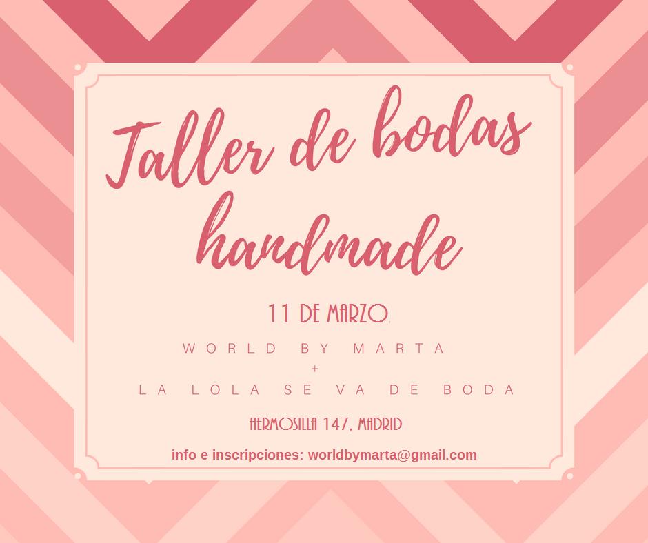 Taller de Bodas Handmade
